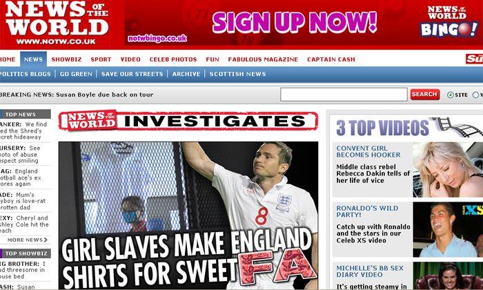 La camiseta de Inglaterra es confeccionada por explotados que ganan 2 euros por día