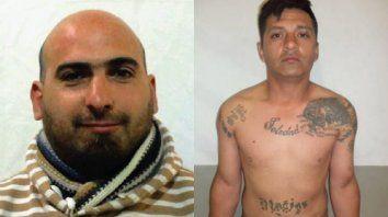 A la izquierda Facundo Esteban Crocco, de 41 años, el pasado 14 de febrero intentó matar de 27 puñaladas a su pareja. A la derecha,Hugo Alberto Peralta, de 37 años, escapó de la Unidad Penitenciaria Nº 11 de Piñero el último 17 de mayo y cumplía una condena por robo calificado.