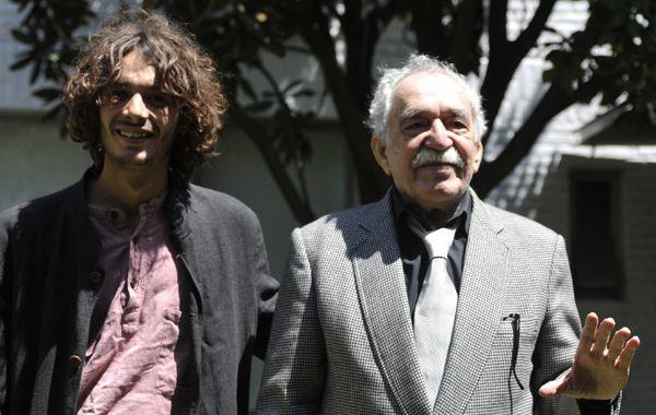 García Márquez y su nieto Mateo García en el cumpleaños 85 del escritor