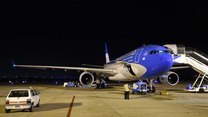 Arribó el avión de Aerolíneas Argentinas con 517.500 dosis de la vacuna Sputnik V