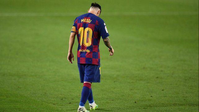 La imagen sintetiza el momento de Leo en Barcelona