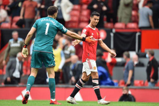 Bronca en el Manchester United: Emiliano Martínez desafío a Cristiano Ronaldo a patear un penal