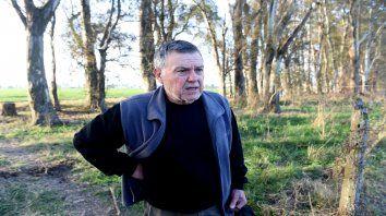 Alberto Perassi, en la zona donde se realizan las excavaciones tendientes a dar con el cuerpo de Paula.