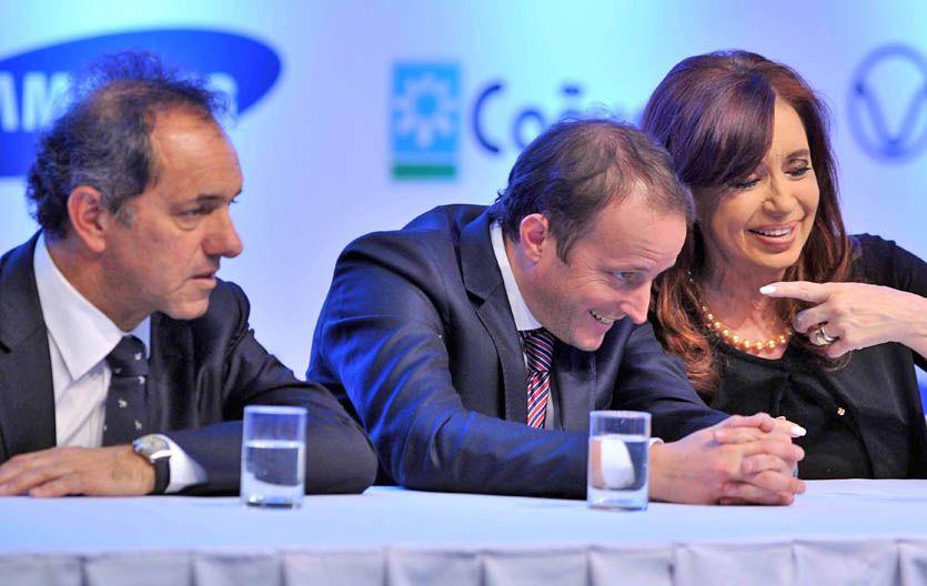El candidato. La presidenta no se priva de promocionar la candidatura de Martín Insaurralde en Buenos Aires.