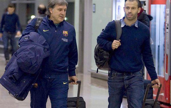 El Tata y Mascherano en los tiempos de Barcelona.