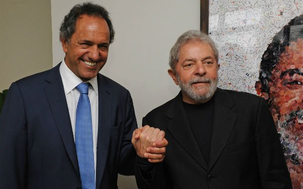 El gobernador bonaerense y el ex presidente brasileño