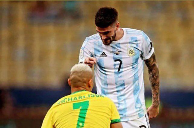 De Paul y Dibu Martínez respondieron tras la burla de los brasileños