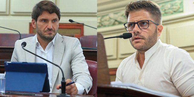 UCR. Los diputados provinciales Maximiliano Pullaro y Juan Cruz Cándido.