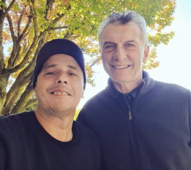 El Dipy finalmente se encontró con Macri y se sacaron una selfie