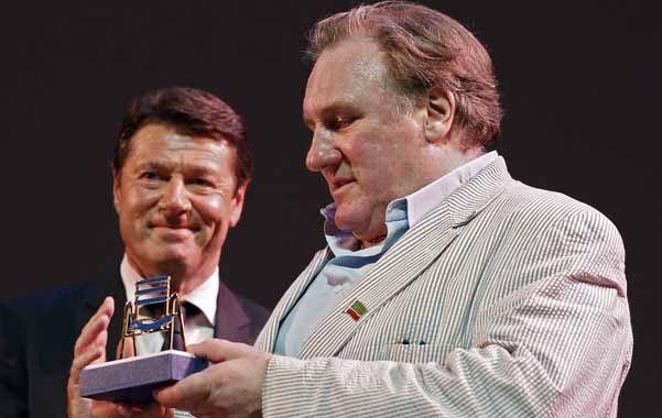 Homenaje. El actor recibió una distinción en el Festival de Cine de Rusia.