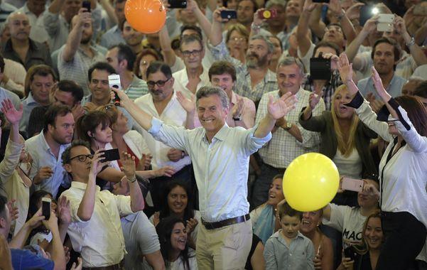 Mauricio Macri encabezó ayer un acto en el club ubicado en Juan Manuel de Rosas al 2500. (Alfredo Celoria / La Capital)