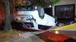 Paraná: un automóvil volcó y falleció su conductor