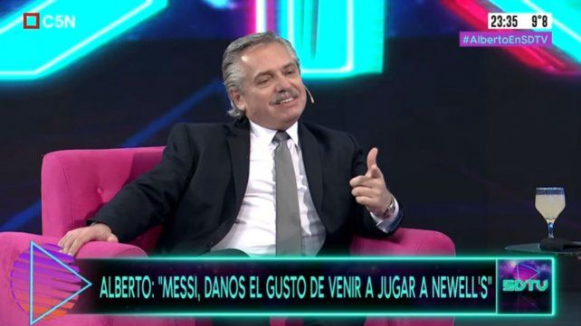 Alberto Fernández habló de Messi y le pidió que vuelva a Newells.