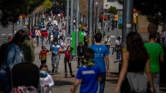 Millones de chicos salieron a la calle con sus padres en España