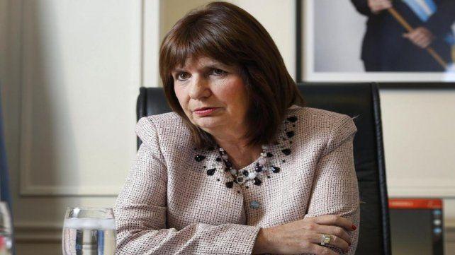 Patricia Bullrich defendió la política de seguridad del gobierno.