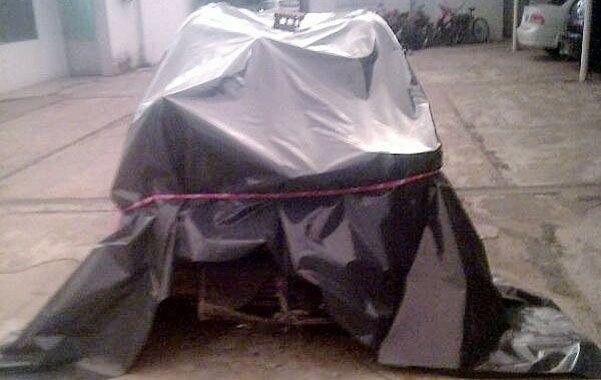 El vehículo de Cejas (en la foto
