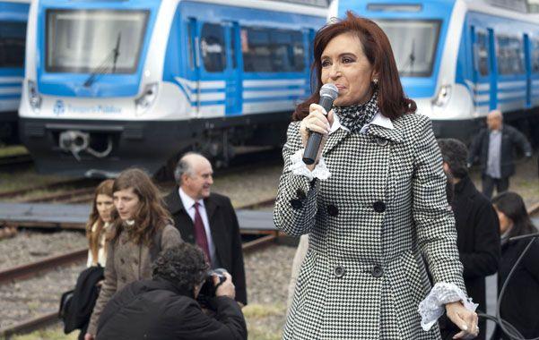 La presidenta. Cristina habló ayer en el puerto de Buenos Aires