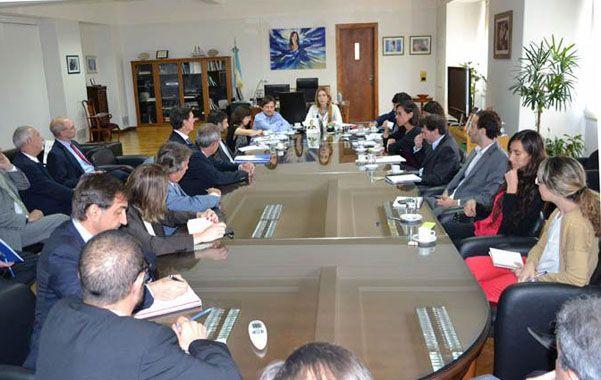 Plan. Giorgi recibió en la última de las cuatro reuniones a los ejecutivos de la industria automotriz.