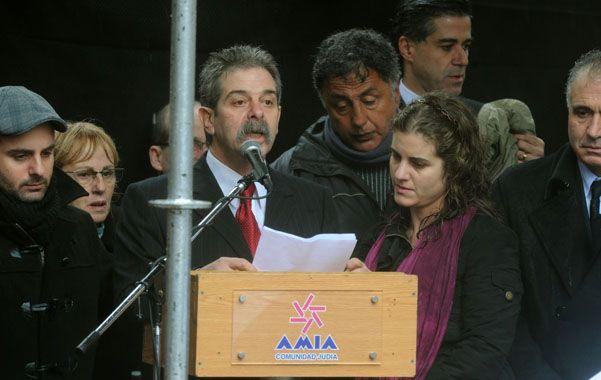 18 de julio de 2011. El último acto de la Amia que habló Sergio Burstein.