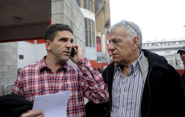 Llamados. Las gestiones no se detienen. El secretario Morosano y el presidente Lorente continuaron ayer con las rondas. (foto: Marcelo Bustamante)