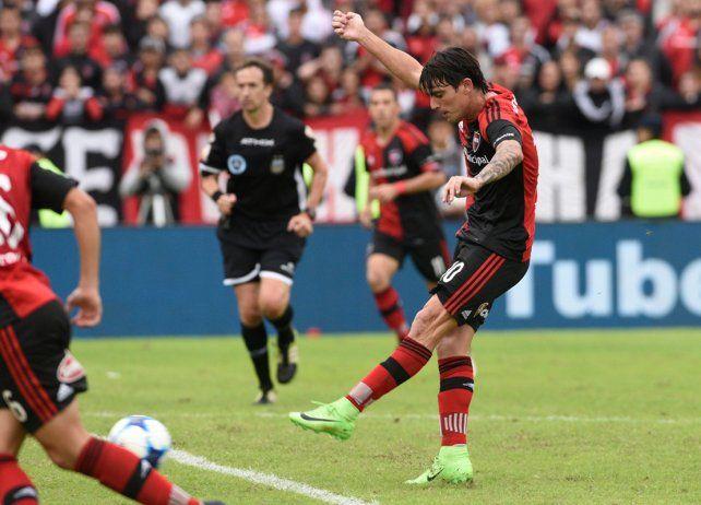 Formica convirtió el gol del descuento de Newells ante Central el domingo pasado.