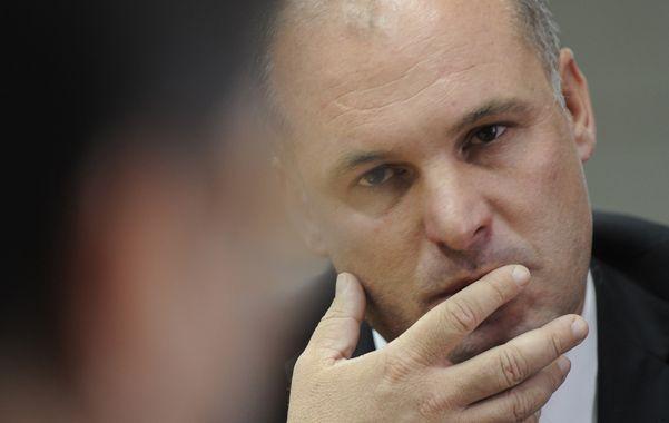 Duro. El vicegobernador volvió a cargar contra la concesionaria. (foto: Enrique Rodríguez Moreno)