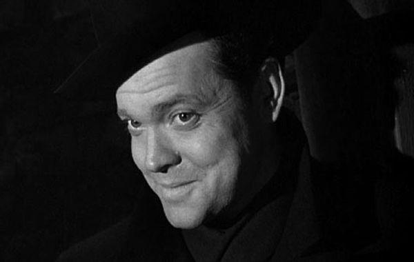 """Orson Welles en """"El tercer hombre""""."""