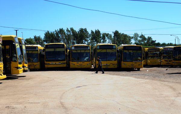 Todos los gremios agrupados en la UTA adhieren a la medida de fuerza de mañana. (foto archivo: Alfredo Celoria)