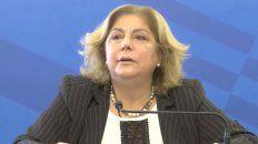La ministra de Salud, Sonia Martorano.