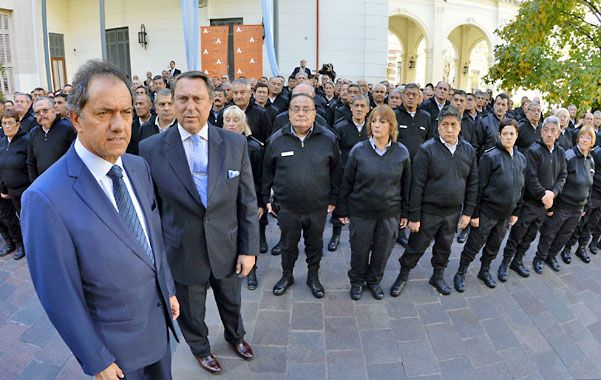 La prioridad. Scioli le da especial relevancia a las cuestiones de seguridad.
