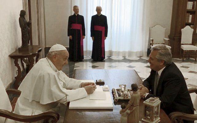 Alberto Fernández se reunió este viernes con el Papa Francisco en El Vaticano.El encuentro se extendió durante 44 minutos
