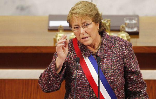 Reformista. La presidenta chilena defendió su programa de reformas