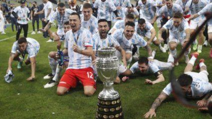 El grito sagrado. Los jugadores de Argentina desatan el carnaval en Río. Alegría infinita para la albiceleste.