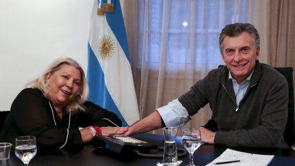 Otros tiempos. En la actualidad, Carrió y Macri mantienen distanciamiento político.