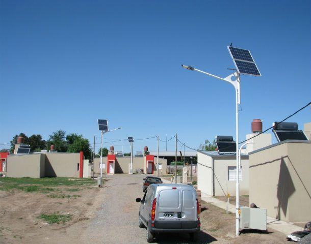 Barrio solar. Una exitosa prueba se dio en San Carlos Sud