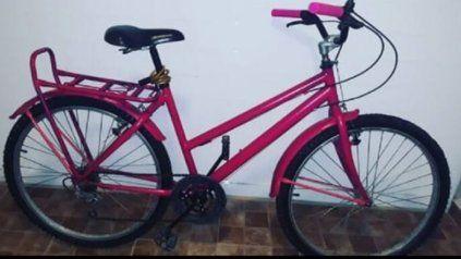 La bicicleta que le fue robada a una intendenta del noroeste santafesino.