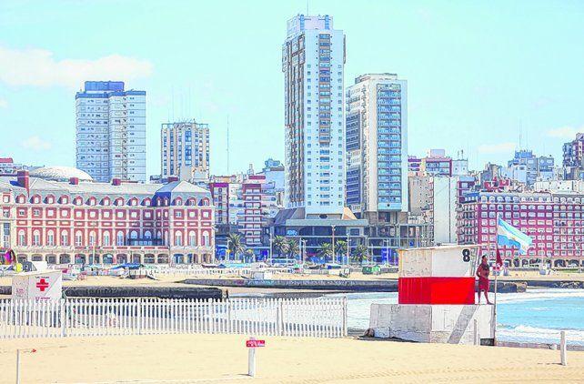Arenas vacías. Las playas de Mar del Plata lucieron vacías
