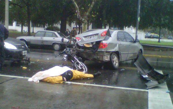 El accidente se produjo esta tarde en San Martín y Virasoro.