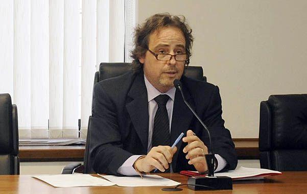 Señor juez. Javier Beltramone presidió ayer la audiencia por la cual Miguel César V. terminó en prisión.