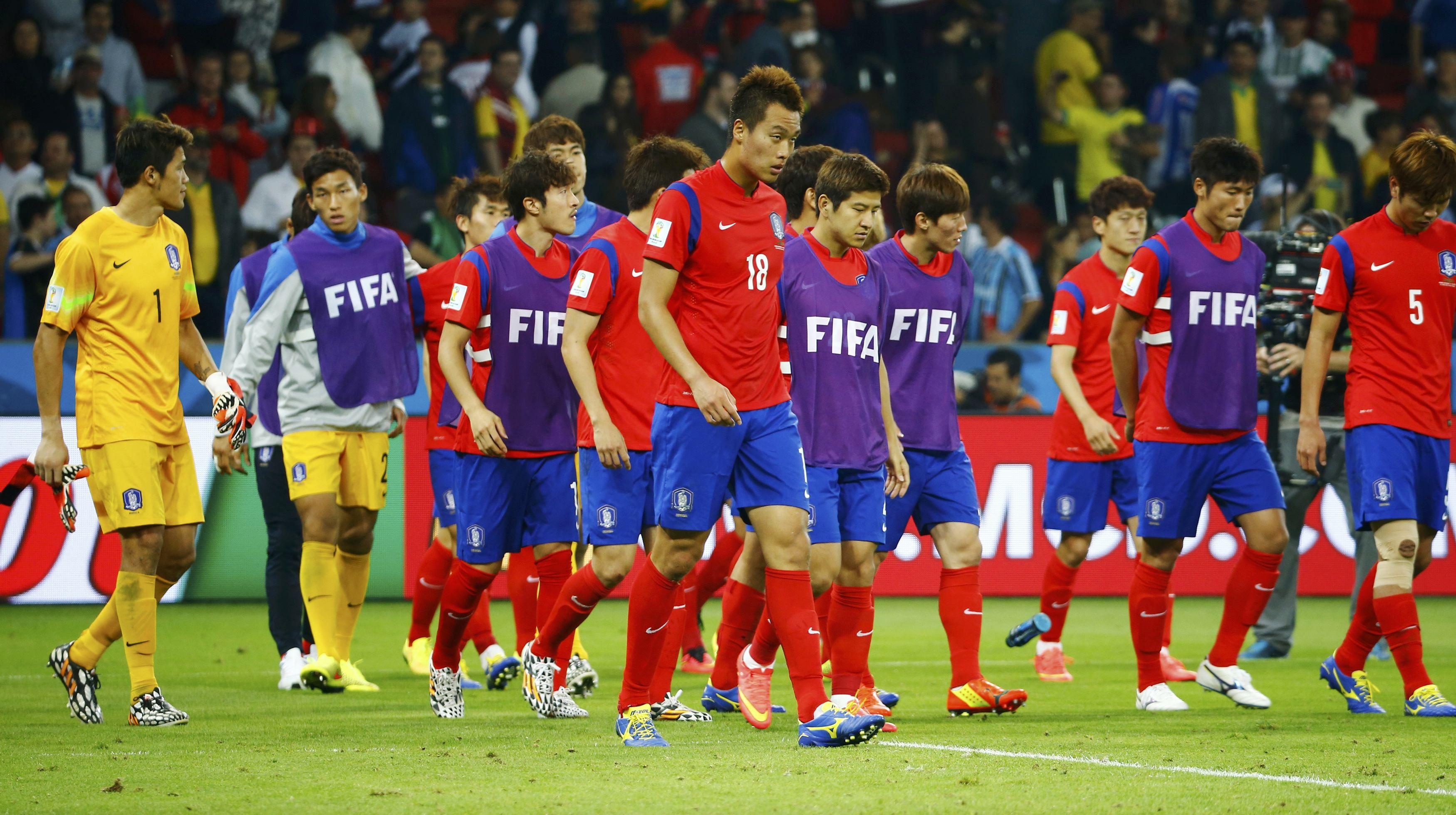 El equipo de Corea del Sur se retira cabizbajo y complica su clasificación en el Grupo H.