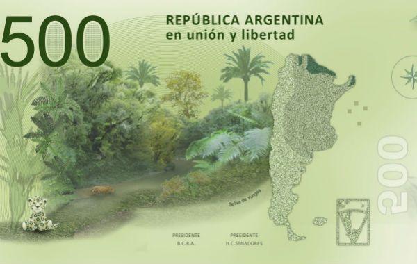 El Banco Central emitirá a mediados de año billetes de 200 y de 500 pesos