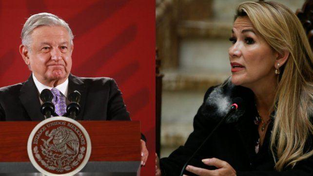 López Obrador quiere ir a La Haya mientras el gobierno de Añez mantiene el cerco.