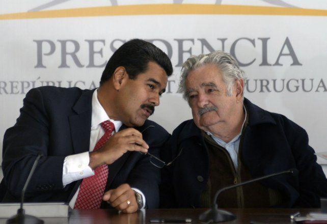 Otra época. Pepe Mujica con Maduro en Montevideo en mayo de 2013.