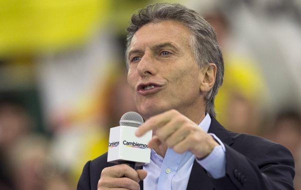 Voz alta. Macri elevó el nivel de críticas hacia Scioli y Massa.
