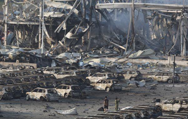 Tianjin. Las explosiones causaron al menos 50 muertos y unos 700 heridos.