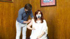 cristina fernandez recibio la primera dosis de la vacuna contra el coronavirus