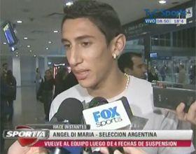 El rosarino Angel Di María dijo que volver a la selección es una revancha