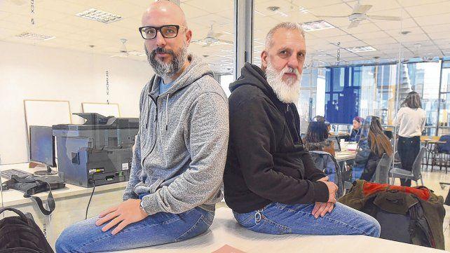 Los investigadores Diego Mauro y Alejandro Eujanian son