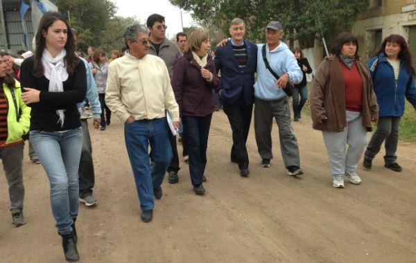 El candidato a diputado nacional por el Frente Progresista Cívico y Social recorrió Puerto Gaboto.