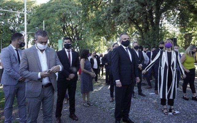 Inauguración de una figura de Manuel Belgrano en el barrio homónimo de la ciudad